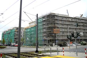 Bau von Mietwohnungen in der Riedbergallee 1-9, Bauherr ist die ABG Frankfurt Holding, © Stadtplanungsamt Frankfurt am Main
