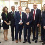 Treffen mit Vizebürgermeister Jin